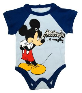 Mouse Walt Disney Attitude Is Everything Cartoon Baby Snapsuit