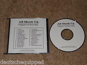 ALL SHOOK UP ORIGINAL CAST RECORDING SOUNDTRACK ADVANCE PROMO CD ELVIS