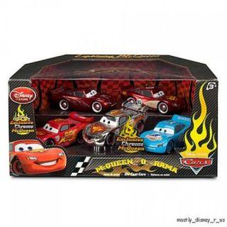 Pixar Cars 2 McQueen O Rama Chrome Grand Prix 5 Piece Die