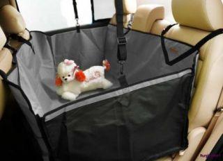 Car Auto Pet Dog Cat Gray 3D Waterproof Hammock Seat Cover Protector