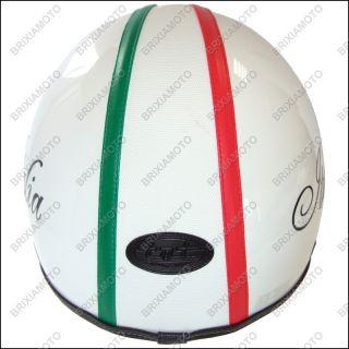 Casco Jet Retro con Logo Personalizzato Italia / Vespa