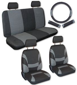 Black Faux Leather Xtreme Car Seat Covers Free Accessories Y
