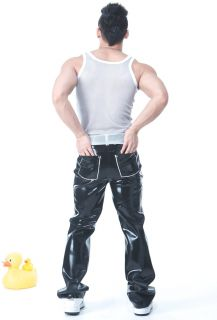 Squeeze Dog Latex Gummi Rubber Casual Active Pants Black Medium