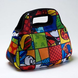 Disney Britto Mickey Mouse Insulated Lunch Bag Tote New
