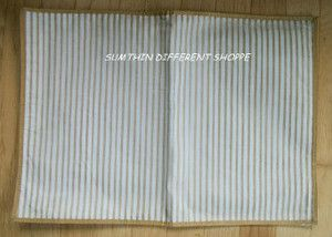 Gold Cream Striped Kitchen Table Placemats Holiday Christmas Room
