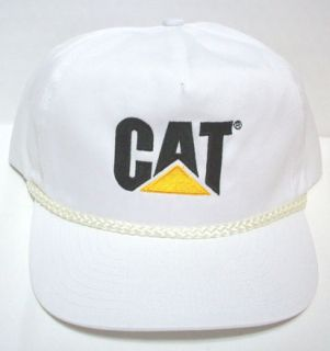 Genuine Cat Tractor Truck White Hat Adjustable New