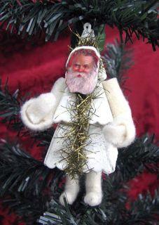Casey Mack Lowe Christmas Tree Santa Figure Ornament