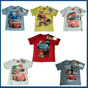 Cars Lightning McQueen Tshirt Cartoon Characters Sizes 3 8
