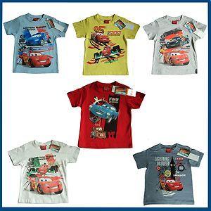 Cars Lightning McQueen Tshirt Cartoon Characters Sizes 3 8