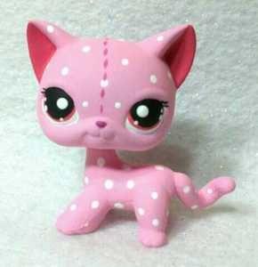 Custard Cat * Hand Painted Custom Littlest Pet Shop Strawberry