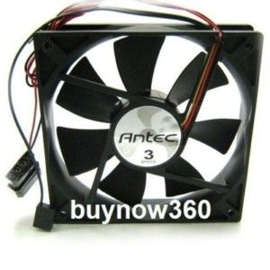 New Antec 3 Speed 120mm Black Case Fan 12V