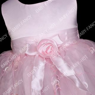 D060 Girl Baby Wedding Bridesmaids Dresses 9 18 Months