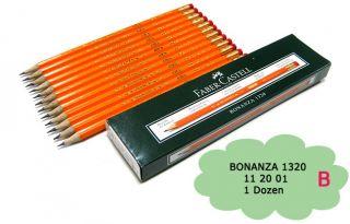 Faber Castell Bonanza 1320 B Pencils with Eraser Tip 1