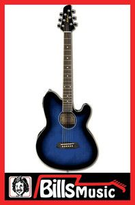 Ibanez TCY10E TBS Acoustic Electric Guitar w/ Cutaway in Trans Blue