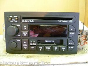 Oldsmobile Cutlass Ninty Eight Cutlass Cd Cassette Radio 16228053 OEM