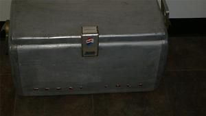 VINTAGE ANTIQUE PEPSI COLA PICNIC COOLER ICE CHEST BOX SILVER
