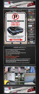No Parking Sign Drift Drifting Cars Only Nissan S15 114