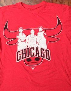 Chicago Bulls NBA Derrick Rose Carlos Boozer Luol Deng Logo Red Medium