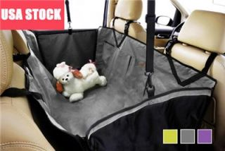 Pet Dog Cat Car Seat Cover Backseat Hammock Waterproof Grey New