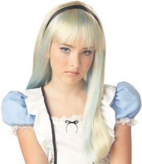 Tween Girls Wigs Alice in Wonderland Kids Costume Wig