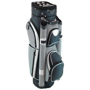 Hunter NuSport Eclipse Ladies Cart Golf Bag Black Houndstooth