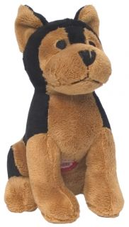 doberman plush dog toy barking interactive item # p2