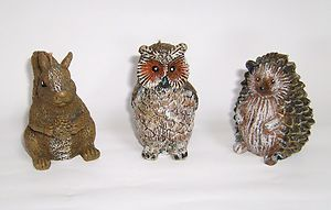 Candles Forest Animal Candles Owl Squirrel Hedgehog