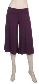 New Yoga Crop Gaucho Pants Casual Pants XL 1x 2X 3X Wide Leg Stretch