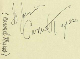 Carmel Myers Vintage 30s Signed Album Page Autographed