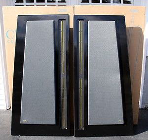 CARVER AMAZING SPEAKERS  ORIGINALS W/ BOXES & BASS ROOM DAMPER RARE