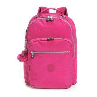 Kipling Seoul Backpack Laptop Bag Carnation Pink BNWT