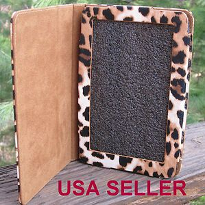 Kindle Fire Leather Case Cover Folding Stand Leopard Print Kindle Case