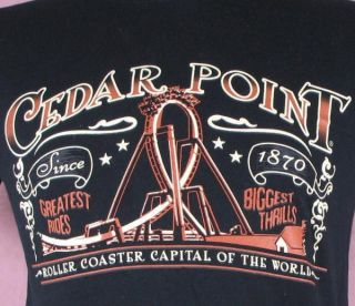 Cedar Point Roller Coaster Capital of The World Mens T Shirt Medium