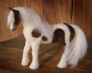 Needle Felted OOAK Horse Gypsy Vanner Pony Wool WJF