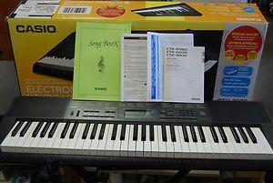 CASIO CTK 2080 61 Key Electronic Keyboard w/ Stand,Manual & Music Rest