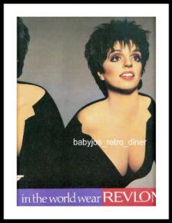 1987 LIZA MINNELLI Revlon Eye Makeup 2 Page PRINT AD Advertisement