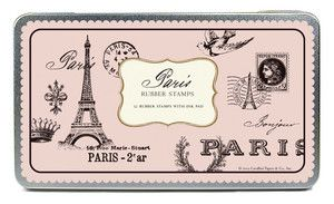 Cavallini Co Paris Rubber Stamp Set