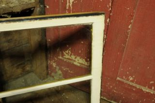 NICE 2 PANE OLD WOODEN WINDOW SASH / FRAME PEELING PAINT SHABBY CHIC