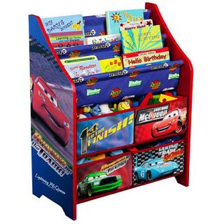 Disney Cars Book and Toy Organizer Box Bookshelf Kids Room Boy Free
