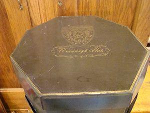 Vintage Cavanagh Hats Hat Box w Insert Graphics