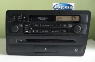 Honda Civic 2001 2005 CD Cassette Radio Player Combo 2PC3 Tested