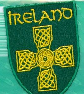 Irish Traditionall CELTIC CROSS Ireland Embroidered Patch Badge