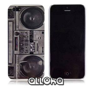 Radio Cassette Tape Player Hard Case Cover for iPhone 5