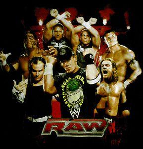 WWE RAW T Shirt Large  John Cena Jeff Hardy Umaga Orton Edge DX HBK
