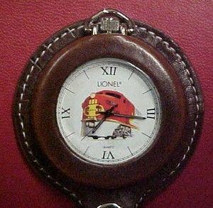 Centennial Santa FE Lionel Pocket Watch and Holder New