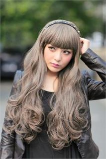 Long Cosplay Party Wig Lovely Girl Wig Women Lady Wigs Heat Resistant