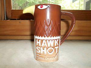 Vintage Smirnoff Hawk Shot Ceramic Mug C Heublein Inc 1970 Nice