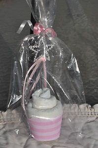 Diaper Cupcake Princess Baby Shower Favor Centerpiece Gift