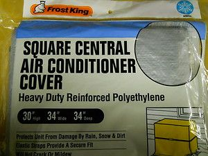 Frost King Square Heavy Duty Central Air Conditioner Cover 30 x 34 x
