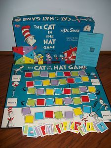 Dr Seuss The Cat In The Hat Boardgame Beginner Game COMPLETE